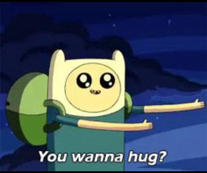 finn, hugs, and adventure time image