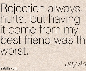 best friend, girl and guy, and rejection image