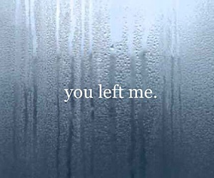 alone, leave, and left image