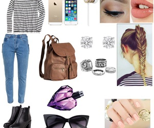 book bag, Polyvore, and school image