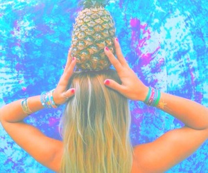 pineapple, summer, and tropical image