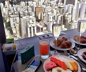 food, breakfast, and city image