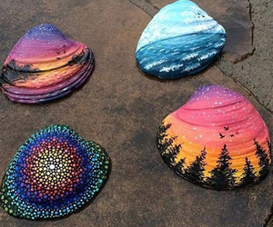 art, shell, and summer image