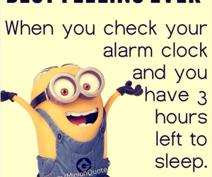 sleep, minions, and quotes image