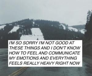 black, feelings, and sorry image