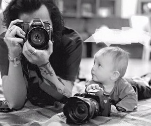 Harry Styles, baby, and one direction image