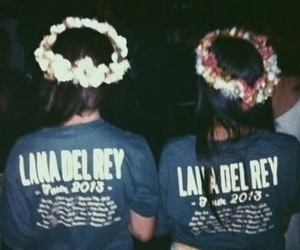 lana del rey, grunge, and flowers image