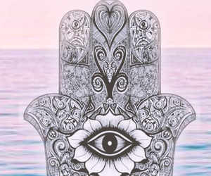 pink, hamsa, and wallpaper image