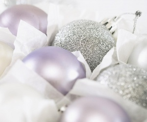 christmas, decoration, and purple image
