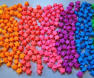 stars, pink, and rainbow image