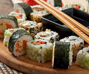 delicious, oriental, and food image