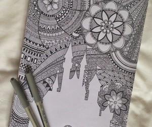 art, drawing, and disney image