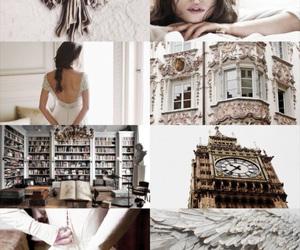 beautiful, books, and dress image