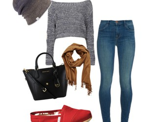 denim, red, and fashion image