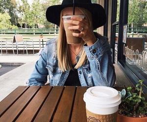 coffee, girl, and tumblr image