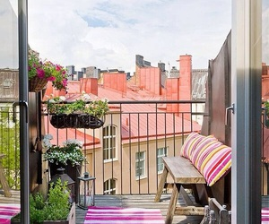 balcony, beautiful, and cosy image