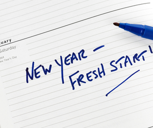 new year, fresh start, and resolution image