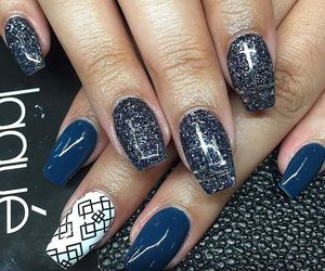 nails, girl, and nail art image