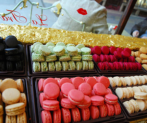 macarons, pink, and food image