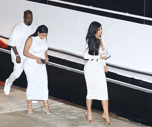 kanye west, kim kardashian, and style image
