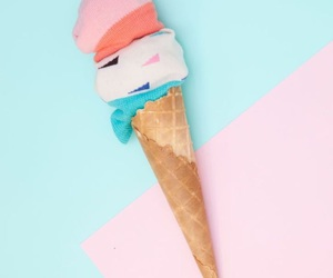 ice cream, pastel, and pink image