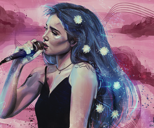 halsey, art, and blue image