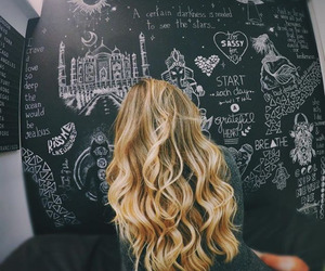 hair, blonde, and art image
