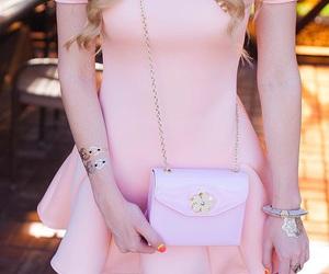 blonde, metallic tattoo, and fashion image