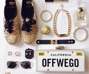 accessories, fashion, and gold glitter image