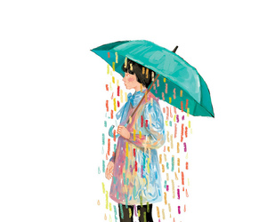 rain, art, and colors image