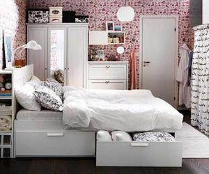 space saving bed, small bedroom ideas, and small furniture image