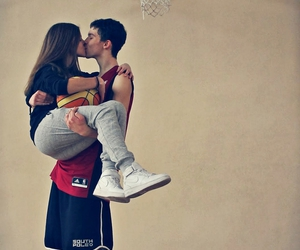 love, kiss, and Basketball image