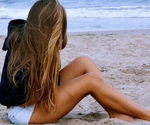 beautiful, hairstyle, and ocean image