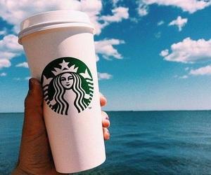 starbucks, summer, and beach image
