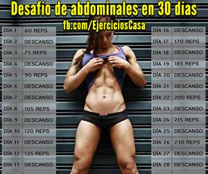 abdominales, esfuerzo, and 30 días image