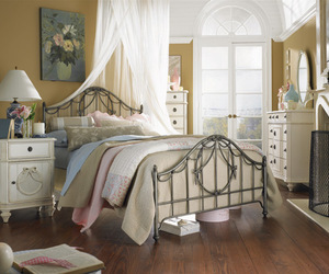 bedroom, bed, and shabby chic image