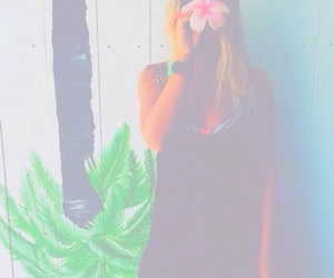 girl, tropical, and blonde image
