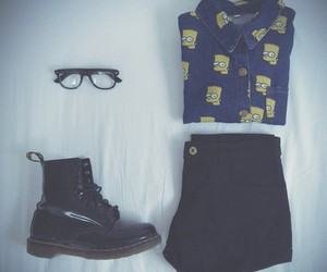 dr martens, fashion, and glasses image