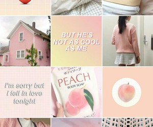 aesthetic, pink, and peach image
