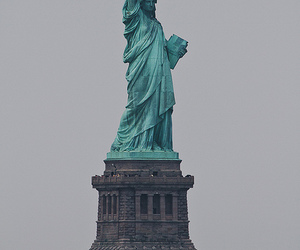 new york, travel, and statue of liberty image