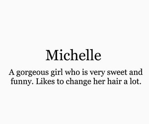 girl, michelle, and name image