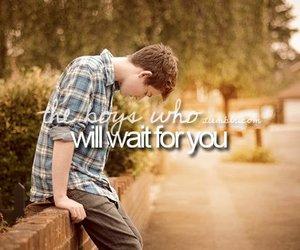 boy, love, and wait image