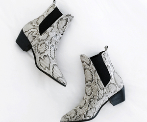 shoe porn, snakeskin boots, and fashionlush image