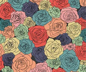 rose, background, and flowers image