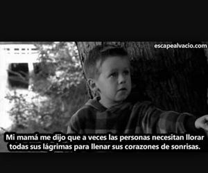 cry, frases, and smile image