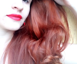hair, red, and cabelo image
