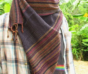 mens fashion, hippie man, and mens scarf image