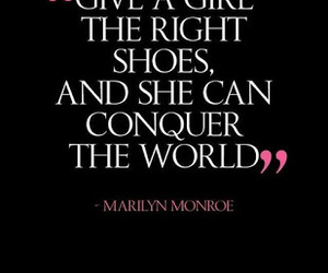 quote, Marilyn Monroe, and shoes image