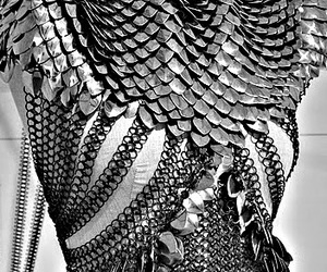 armour, fantasy, and grey image