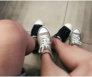 converse, couple, and love image